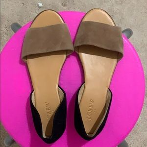 Brand New J.Crew D'orsay Peep Toe Sandals. Size 7